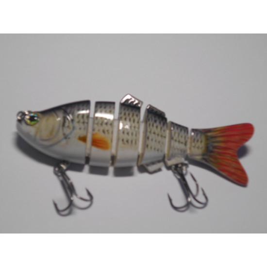 Poisson nageur  style carpe 6 segments longueur 10 centimètres poids 20 grammes produits MagicLA.
